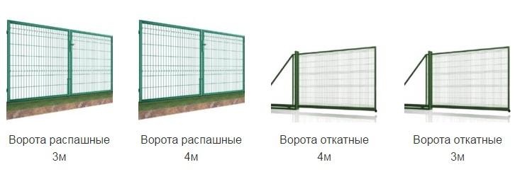 Фото Купите Ворота и калитки и сетка цена на готовую продукцию Украина