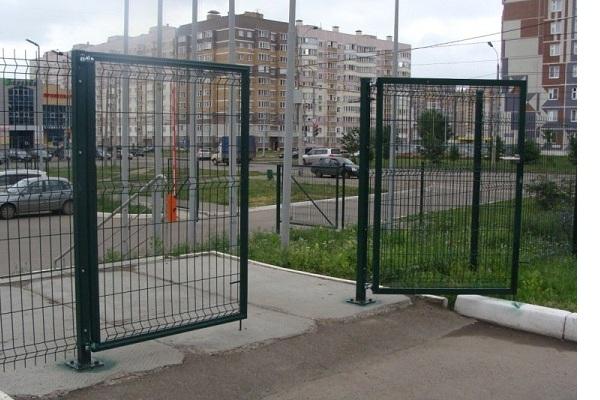 Ворота из сетки в Киеве и Украине низкая цена купить дешево и надежно завод Украина