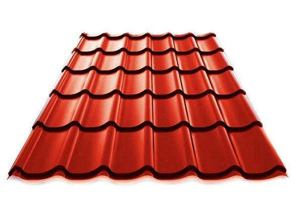 Металлочерепица RAL 3009 РЕ красно-коричневый цвет купить в Киеве цена доставка и гарантия ТД Будмат
