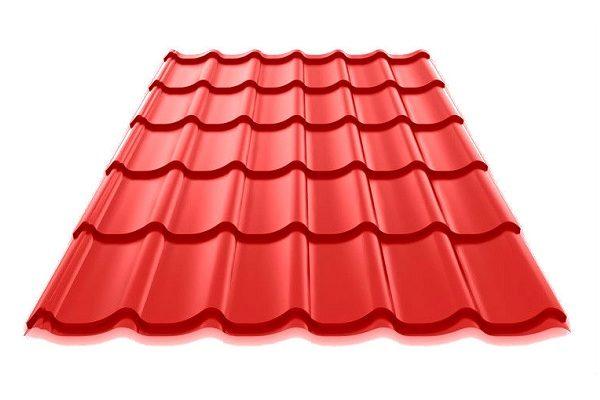 Металлочерепица RAL 3011 РЕ красно-коричневый цвет купить в Киеве цена доставка и гарантия ТД Будмат
