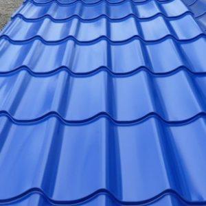 Фото Металлочерепица RAL 5005 РЕ синий цвет купить в Киеве цена доставка и гарантия ТД Будмат