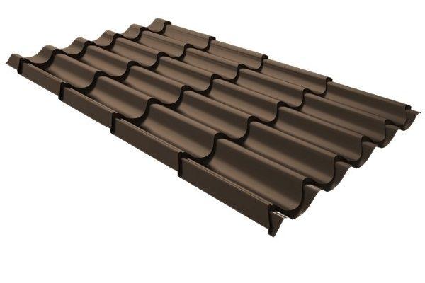 Металлочерепица RR 32 тёмно-коричневый купить в Киеве цена и доставка ТД Будмат
