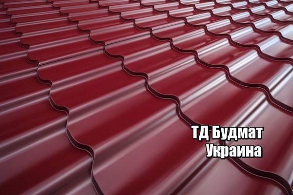 Фото Металлочерепица Вишня купить, цена и доставка ТД Будмат